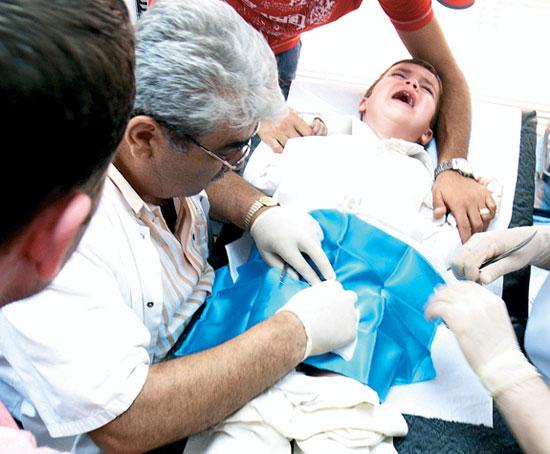 Die Operation in moskwe nach der Erhöhung des Mitgliedes
